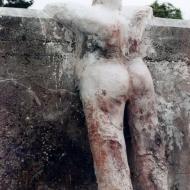 1991, Staande Vrouw, gips, 180 x 100 x 20 cm, Niederbipp, Zwitserland