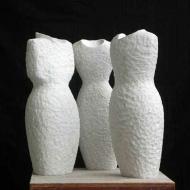3 aardsmoeders, 2007, marble, 54 x 21 x 12 cm