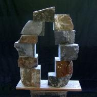 Rupture-and-repair, 2008, Serpentine, 11 parts, 30 x 26 x 20 cm
