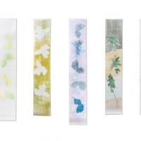 2012 banieren, monoprints, 45 x 2.30 cm